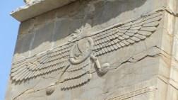 L'homme-oiseau, embleme du Zoroastrisme