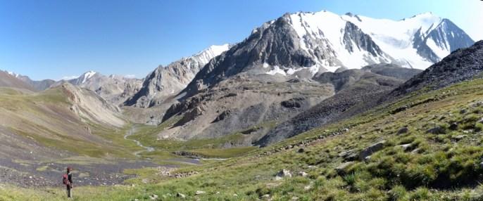 Vue sur un beau glacier.