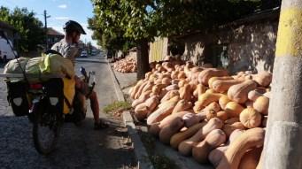 La vente des fruits et légumes se fait directement sur le trottoir!