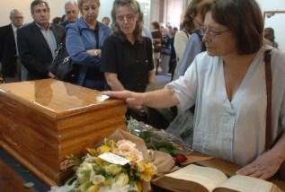 Velatorio de los restos  de Fernando Miranda PŽrez en la  facultad de Derecho.