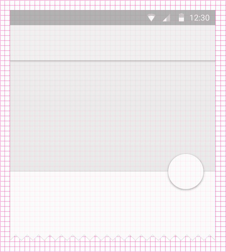 métricas material design layouts