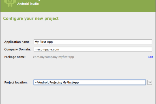 crear un proyecto android studio
