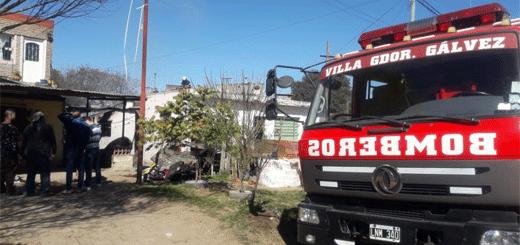 Incendio en dos viviendas con perdidas totales, pero sin heridos.