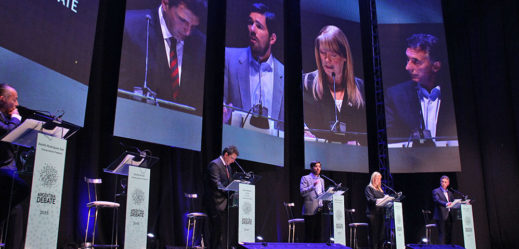 Debate presidencial 2015. Foto de archivo.