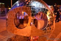 Mirror ball car