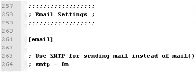 OJS - Editing Mail SMTP