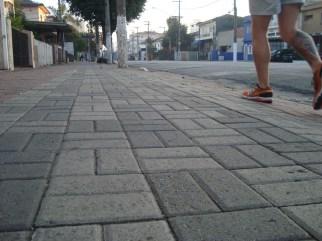 Avenida Cursino e suas excelentes calçadas.