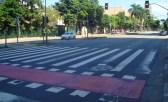 Km 10 - Ciclovia + faixa de pedestres