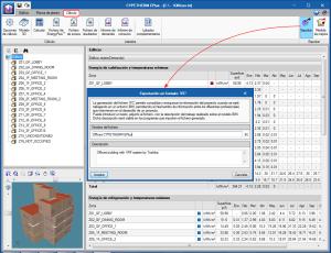 Programas CYPETHERM con motor de cálculo EnergyPlus. Flujo de trabajo Open BIM. Exportación de resultados al proyecto Open BIM