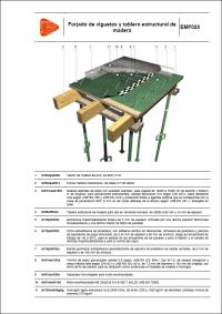 Detalles Constructivos. Forjado de viguetas y tablero estructural de madera. EMF020
