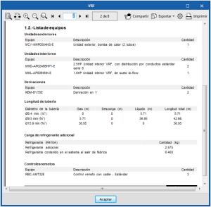 Open BIM TOSHIBA. Cálculo de refrigerante adicional en sistemas VRF
