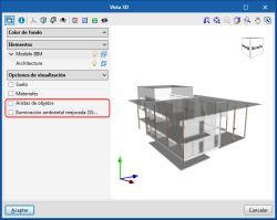 Mejoras comunes a todos los programas. Aristas de objetos e iluminación ambiental mejorada en Vistas 3D