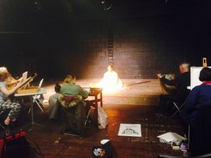 Croydon Life Drawing workshop takes place every Tuesday in the studio at Matthews Yard
