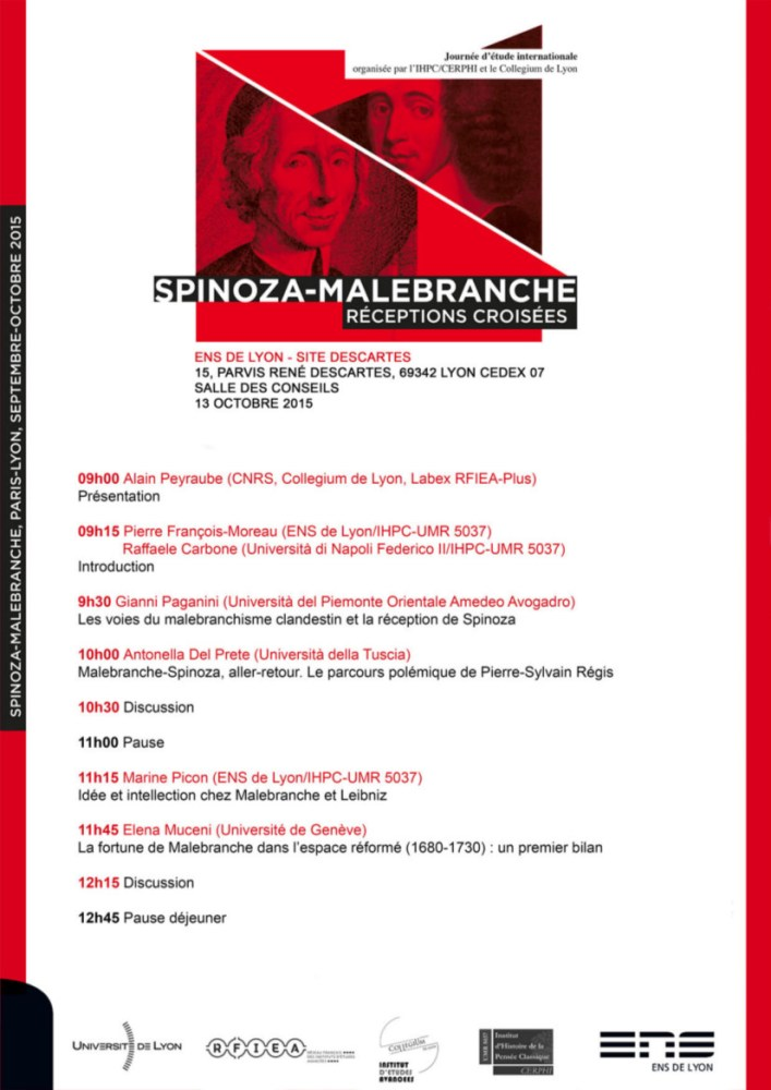 Conferința Spinoza-Malebranche Lyon 13 octombrie 2015 (1/2)