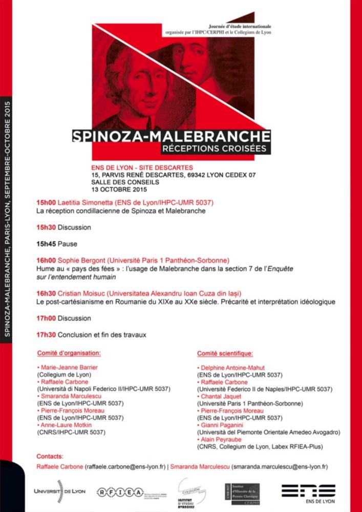 Conferința Spinoza-Malebranche Lyon 13 octombrie 2015 (2/2)
