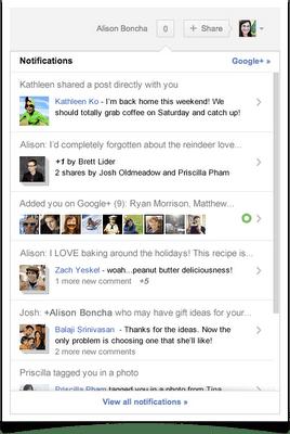 notifications Google+ : plusieurs nouveautés