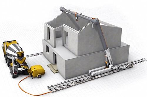 Bouwplaats voor nieuwbouw met 3D printen wordt duurzaam