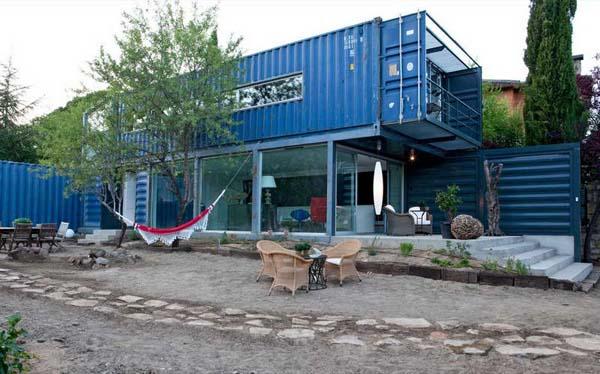 metalen beachhouse