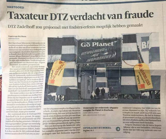 Taxateur DTZ verdacht van fraude - de scherpe pen
