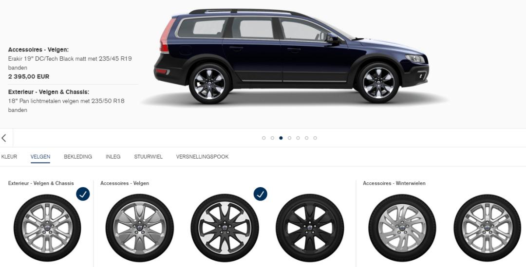 Volvo opties configurator
