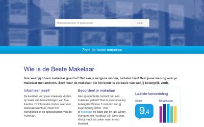 Grote veranderingen bij de vergelijkingssite voor makelaars WieIsDeBesteMakelaar.nl