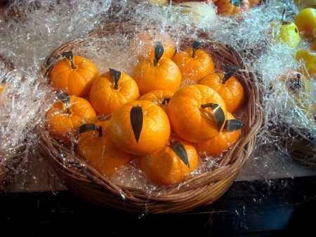Tangerinas de marzipã