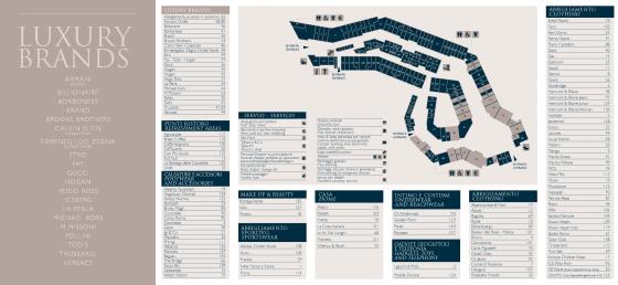 Mapa do outlet com todas as lojas existente lá atualmente.