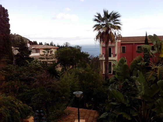 Vista do Restaurante La Buca em Taormina