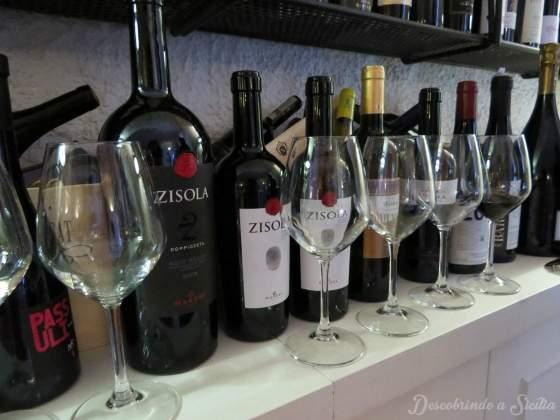 Vinhos do Restaurante Dammuso