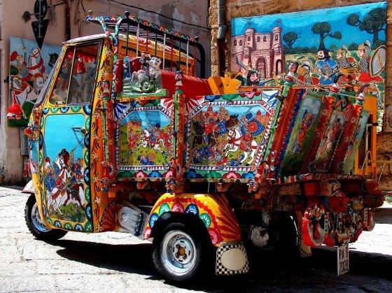 Ape Piaggio carroça siciliana