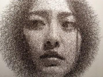 Park Seung Mo retrato con alambre 2