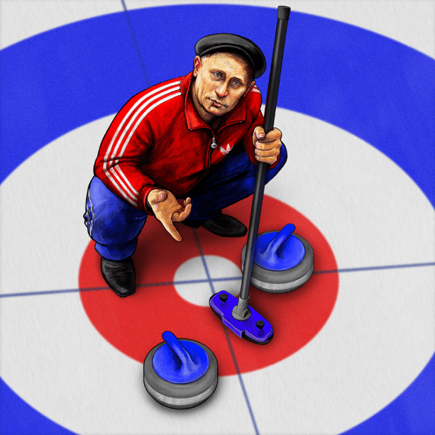 Putin in Sochi 2014 – Gopnik Curling
