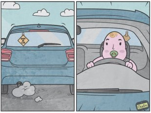 Anton Gudim - baby in car
