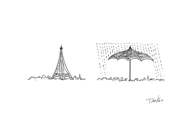 Tangosleepless - Eiffel umbrella