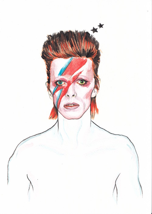 Veriette Illustration - David Bowie
