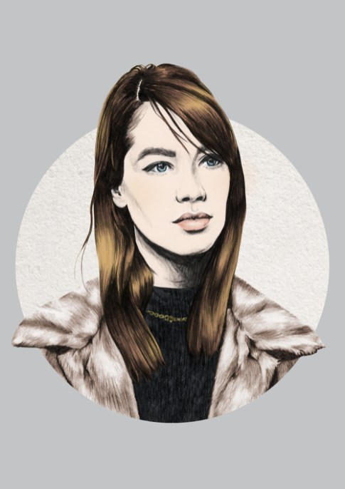Veriette Illustration - Francoise Hardy