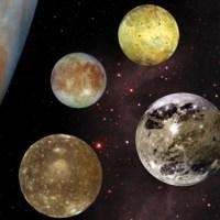 Sistemul Solar. Cei 4 sateliti galileeni ai lui Jupiter