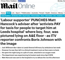 Daily Mail story 09/12/2019