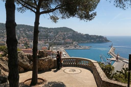Vistas panorâmicas da França, Parque da Colina do Castelo, Nice