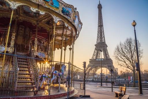 carrossel torre eiffel Paris - Férias de julho com as crianças pela França: aonde ir