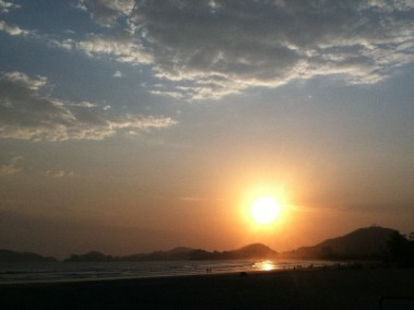 Por do Sol - Praia de Pernambuco - Praias do Guaruja