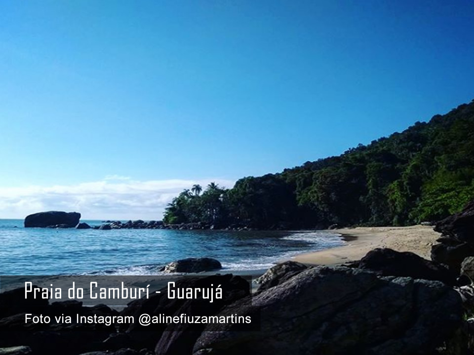 Praia do Camburí - Guarujá - Foto by @alinefiuzamartins