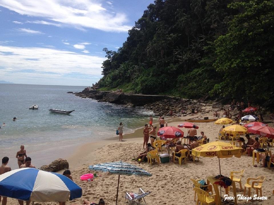 Verão na Praia do Éden no Guarujá