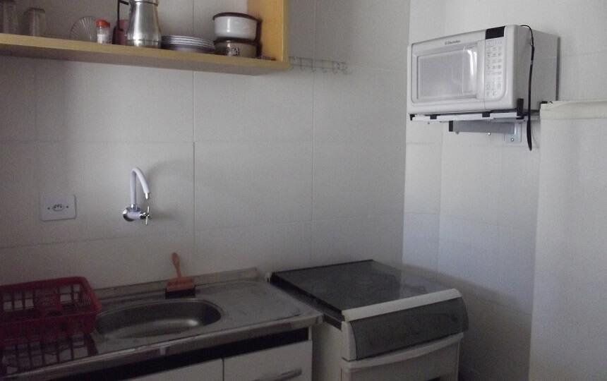 Cozinha Apto 8 - Refugio Temporada Guaruja - Praia da Enseada