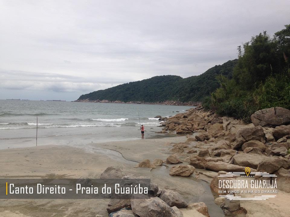 Praia do Guaiuba no Guarujá - Lado Direito da Praia