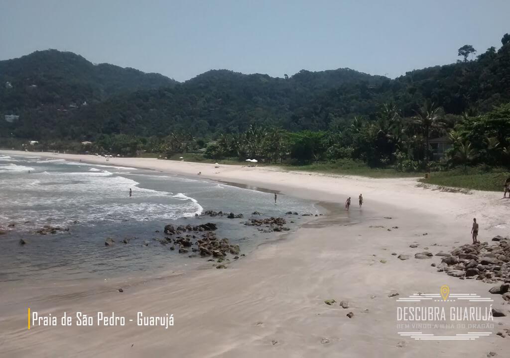 A Praia de São Pedro em Guarujá SP