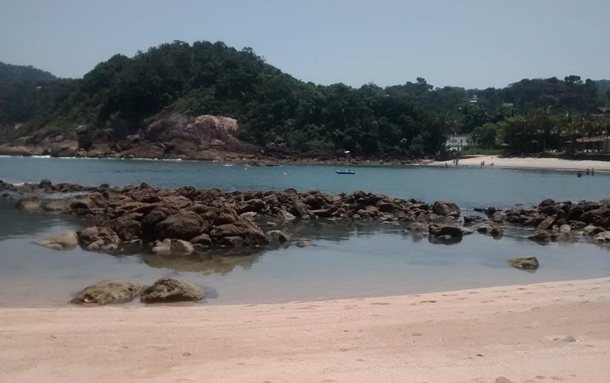 Canto Pedras Praia de Conchas no Guarujá
