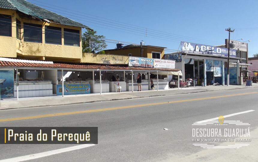 Comercio de Peixes na Praia do Perequê no Guarujá