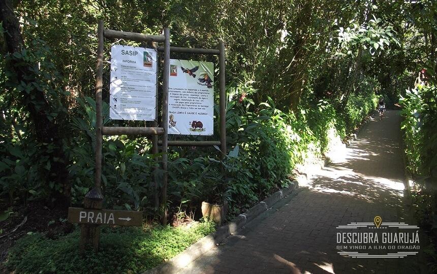 Entrada Caminho da Praia de São Pedro Guarujá
