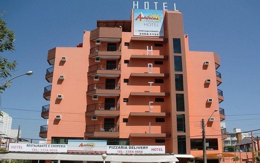 Fachada Astúrias Praia Hotel - Guarujá